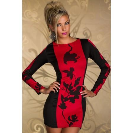 Stretto abito Sexy Rosso CINE