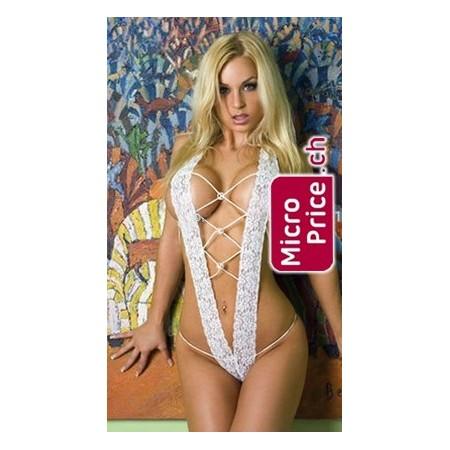 Sexy set in Bianco con la Stringa