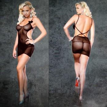 Mini robe Sexy résille ALLYSON