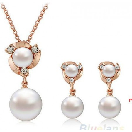 """Ensemble collier & boucle d'oreille """"Crystal Jewelry"""""""