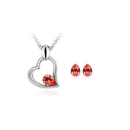 Halskette und Ohrringe DURCHMESSER-HEART