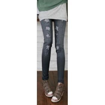Leggings Sexy style jeans troué