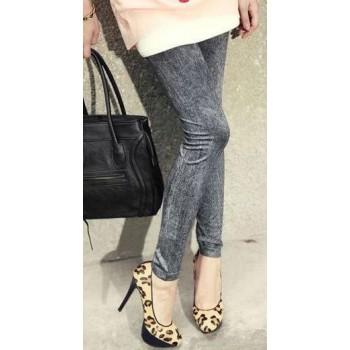 Leggings Sexy Jeans Gris Noir