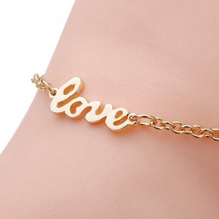 Armband Knöchel und Fuß LOVE