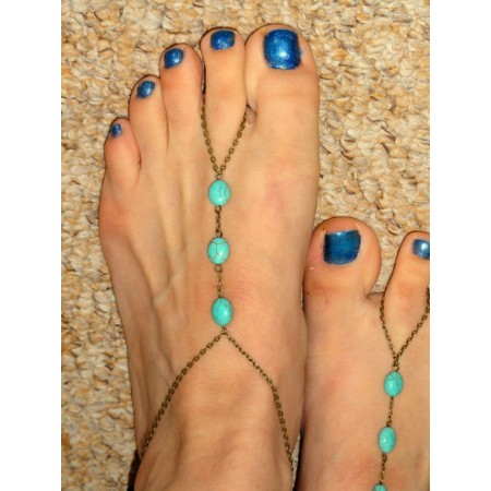 "Bijoux de pied ""Turquoise"""