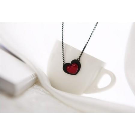 Halskette BLACK HEART