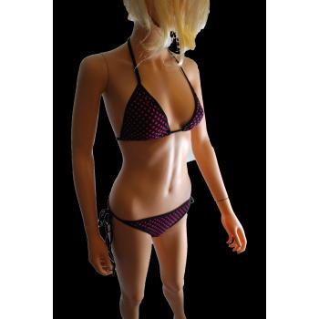 """Bikini pois rose """"Célia"""""""