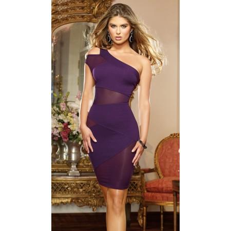 robe moulante avec ouverture et parties transparentes