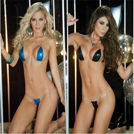 Splendide lingerie sexy argentée !