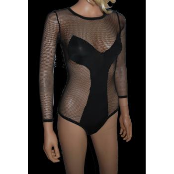 Body Résille Sexy Noir