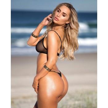 Bikini sexy Nero trasparente