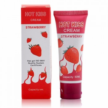 HOT KISS Cream Strawberry Lubrifiant