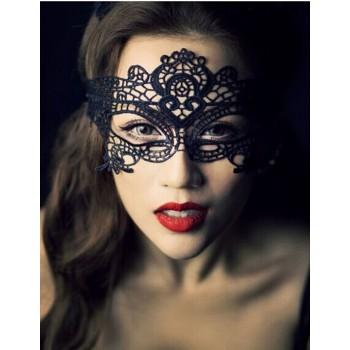 Masque glamour dentelle noir