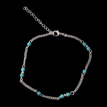 Brace perline blu oro o argento