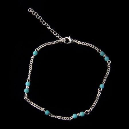 Knöchelbandage perlen blau gold oder silber