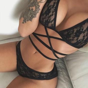 Dessous lace BLACK BANDAGE