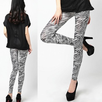Leggings stampa zebra