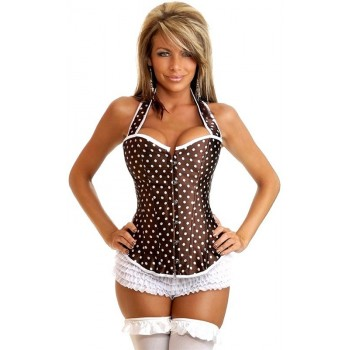 Sexy Corset with polka dots
