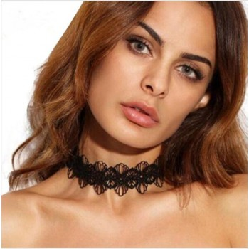 Necklace in black lace