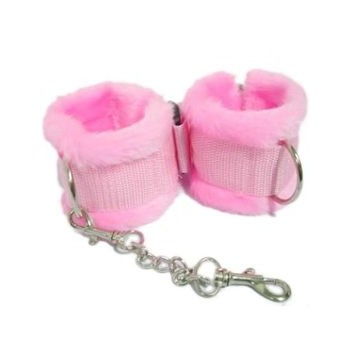 Handcuffs SM pink with fur