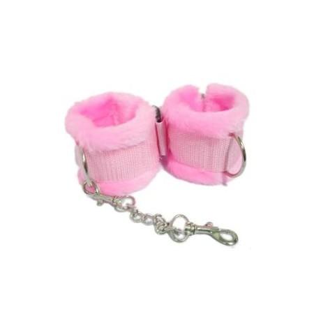 Handschellen SM rosa mit fell