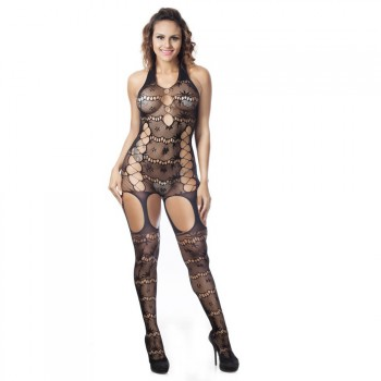 Bodystocking résille style dentelle
