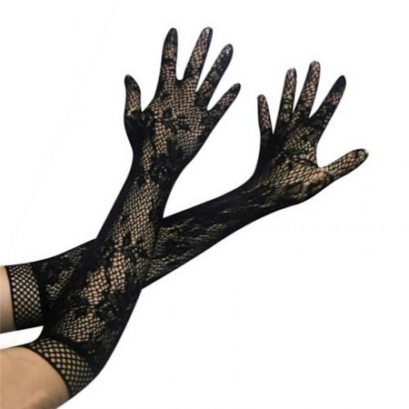 Handschuhe lang, netzrücken