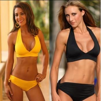 Bikini Froncé Jaune ou Noir