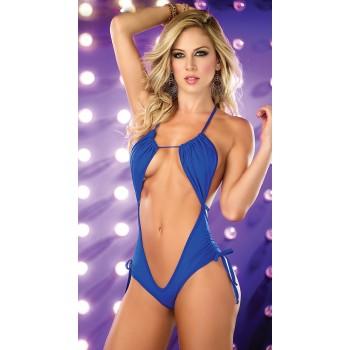 Monokini sexy échancré noir ou bleu