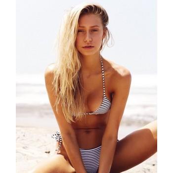 Bikini sexy striped
