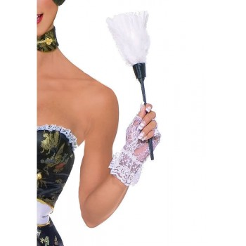 Feather duster for French maid naughty