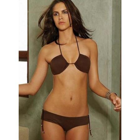 Splendide bikini sexy marron !
