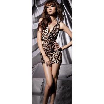 Robe Sexy léopard sauvage