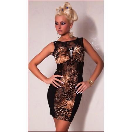 Élégante robe de soirée léopard