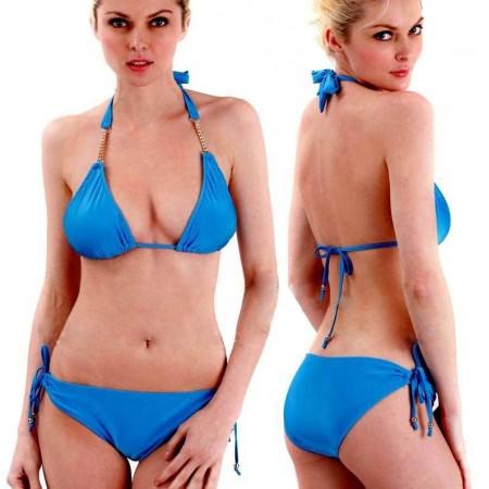 Splendide bikini sexy bleu !