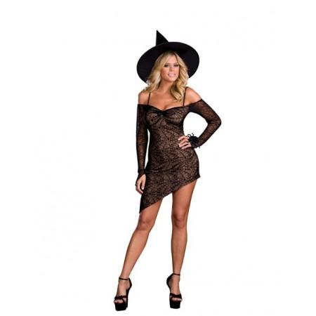 Splendide costume de sorcière sexy !