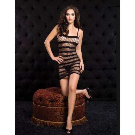 Magnifique lingerie sexy noir transparent