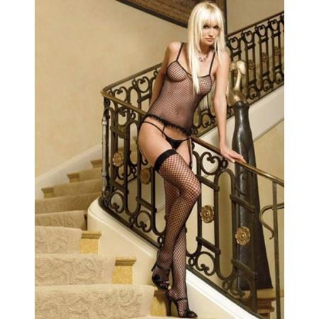 Magnifique lingerie sexy noir transparent !