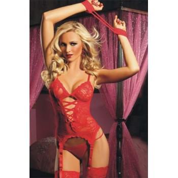 Sublime lingerie en dentelle rouge sexy !