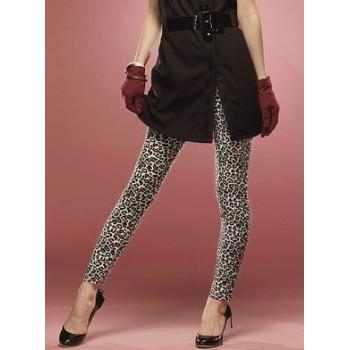 Leggings léopard blanc