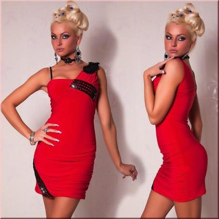 Élégante robe de soirée rouge