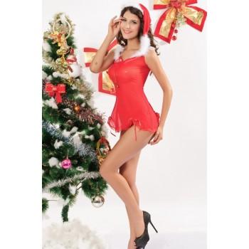 Costume Mère Noël (3 Pièces)