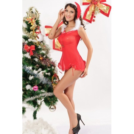 Costume Mother Christmas (3 Pieces)