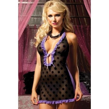 Nuisette violet fashion polka