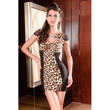Robe de soirée léopard