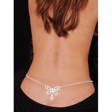 Butterfly Rhinestone Belly Chain and Lower Back