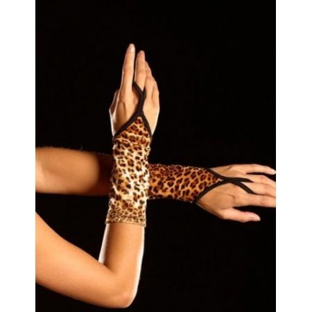 Halbe Handschuhe LEOPARD