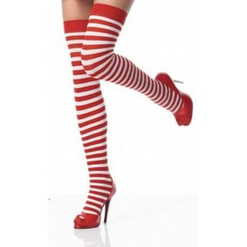 Chaussettes Montantes Alice Blanche & Rouge