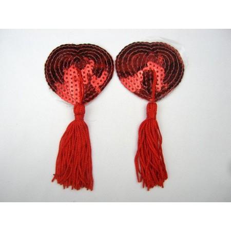 Cache tétons rouge