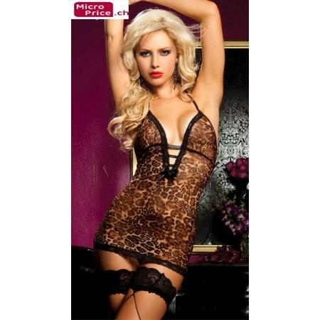Splendide lingerie léopard ultra sexy !